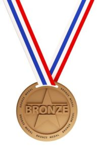 13734813 - three medals, gold, silver and bronze for the winners