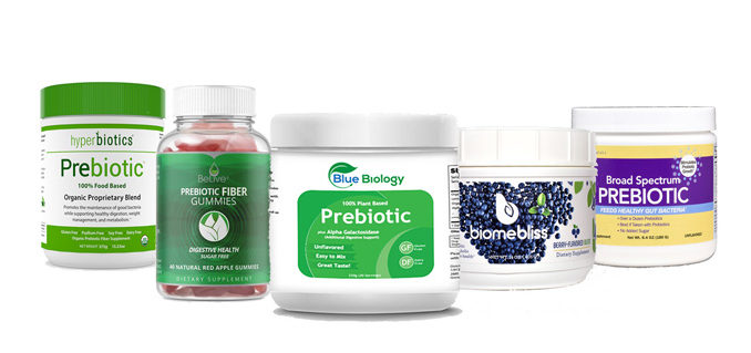 Image of the best prebiotic supplement products on the market
